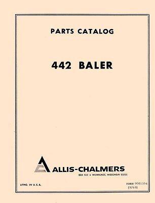 Allis Chalmers 442 Baler Parts Manual