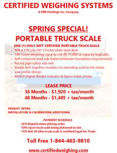 NEW AND USED PORTABLE TRUCK SCALES Regina Regina Area image 2