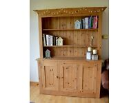 Modern chunky pine dresser unit by Pinetum - wax finish.