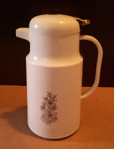 Vintage glass insulated thermos jug coffee dispenser