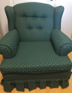 CHESTERFIELD, SOFA CHAIR & PILLOWS (Like new-barely used)