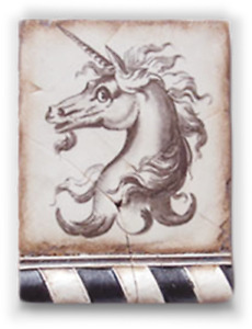 Sid Dickens Retired Memory Block Tile No:  T166 Unicorn