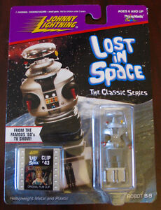 JOHNNY LIGHTNING LOST IN SPACE ROBOT B-9 MOC 1998 CLIP#43