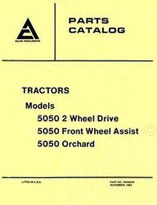 Allis Chalmers 5050 Tractor Parts Catalog Manual Ac