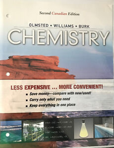 Chemistry Textbook by Olmsted, Williams and Burk for Chem 1300