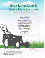 Broz Lawn Care& Basic Maintenance