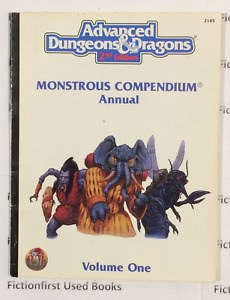 """Roleplay Manual: """"Monstrous Compendium Vol. 1 AD&D 2nd"""""""