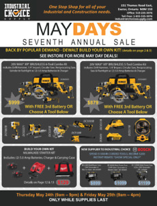 Industrial Choice Supply MAY DAY SALE
