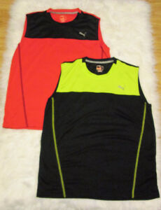 Puma Sport Lifestyle Lot of 2 Mens Tank Top Muscle Tee No Sleeve