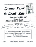 SPRING YARD AND CRAFT SALE BBQ AND PENNY AUCTION
