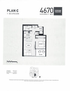 BRAND NEW Burnaby Metrotown 1Bed 1Bath-12th Flr @StationSquare2