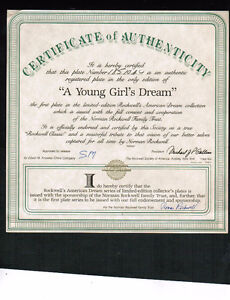 """COLLECTOR PLATE -- """"A YOUNG GIRLS DREAM"""" Kitchener / Waterloo Kitchener Area image 2"""
