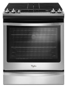 "Whirlpool WEG745H0FS 30"" Gas Range Whit 5 Sealed Burners"