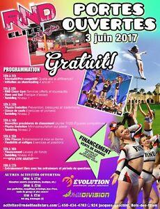 Journée PORTES OUVERTES (cheer, gymnastique, danse)