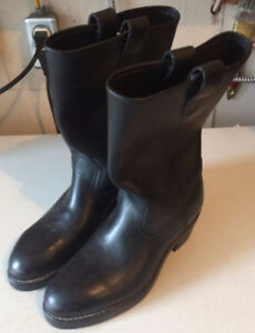 COLLINS 12'' BIKER BOOTS STEEL TOE SIZE 7 CSA APPROVED $30.00
