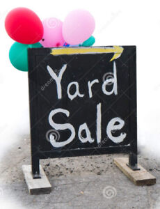Yard Sale  Downsizing