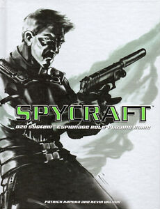 SPYCRAFT Espionage Role-Playing Game Book – Patrick Kapera 2002
