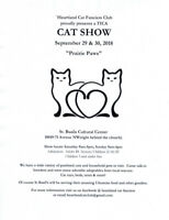 Vendor table available - Cat show September 29 + 30