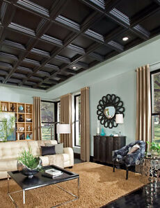 1/2 priced coffered ceiling tiles