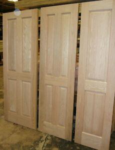 Solid Red Oak 4 Panel doors (no veneers)