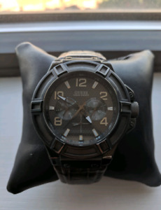 Guess watch with a brown leather strap