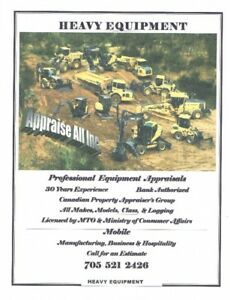 HEAVY EQUIPMENT CERTIFIED APPRAISALS