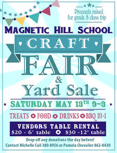 MAGNETIC HILL SCHOOL CRAFT FAIR AND YARD SALE