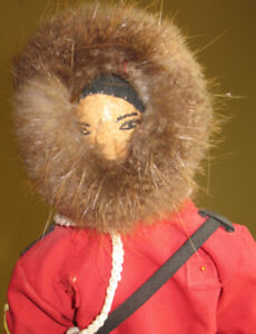 Inuit Heritage R.C.M.P. Male Doll Made With Permission From RCMP
