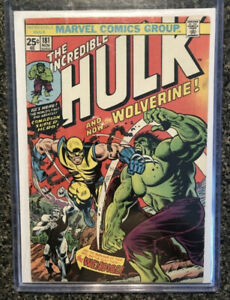 Marvel Comics INCREDIBLE HULK #181 1st WOLVERINE WITH MVS!!!