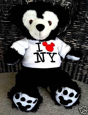 Disney Mickey Mouse Bear Black New York NY  NWT Duffy VERY RARE AUTHENTIC