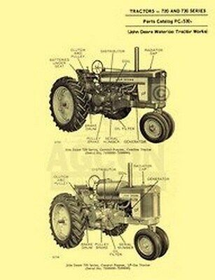 John Deere 720 730 Gas Engine Tractor Parts Manual Catalog Jd 530