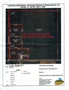 Opportunity to Build on 145 Acres, 30 min from Grande Prairie