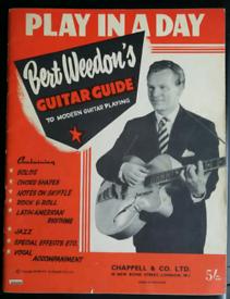 Bert Weedon's 'Play In A Day' guitar tutor c1950's
