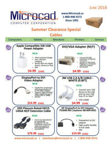 Microcad Summer Clearance Specials - Cables