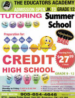 PRIVATE HIGH SCHOOL AND THE TUITION SERVICES.CALL AT 9056544646
