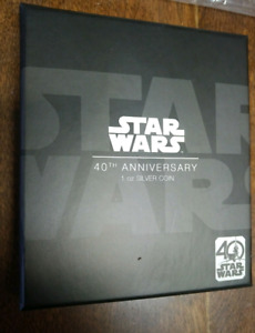 Star Wars Poster Silver Coin 1 oz - 40th Anniversary