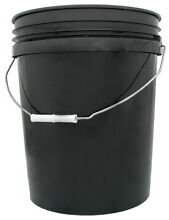 BLACK PLASTIC BUCKET / PAIL 20L WITH LID - FOOD GRADE HDPE Alderley Brisbane North West Preview