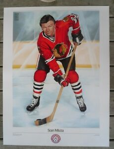 *** STAN MIKITA CHICAGO BLACKHAWKS ~ NHL Original 6 Poster 1988