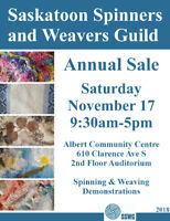 Saskatoon Spinners & Weavers Guild 2018 Annual Sale