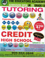 ALL HIGH SCHOOL COURSES OFFERED FROM GRADE 9-12..CALL 9056544646