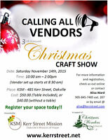 Vendors Wanted: 3rd Annual Christmas Craft Show