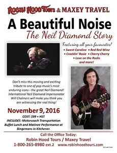 A Beautiful Noise - The Neil Diamond Story Stratford Kitchener Area image 1