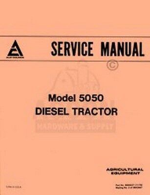 Allis Chalmers 5050 Diesel Tractor Shop Service Manual