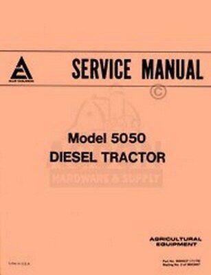 Allis Chalmers 5050 Diesel Tractor Shop Service Manual