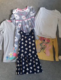 Bundle of dress and t shirts age 4-5 Mark's and spencer, next, etc