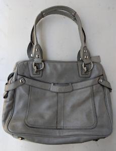 Coach GreyLeather Handbag No L1126-Z19604