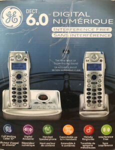 GE DECT 6.0 Phone with 2 handsets & answering system