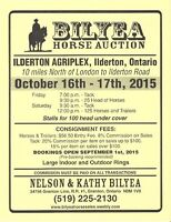 BILYEA CONSIGNMENT HORSE AND TACK AUCTION