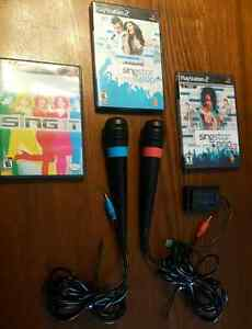 PLAYSTATION 2 and 3 SINGSTAR PACKAGE  / ENSEMBLE  West Island Greater Montréal image 2