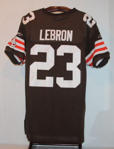 REEBOK LEBRON JAMES CLEVELAND BROWNS FOOTBALL JERSEY SIZE 50